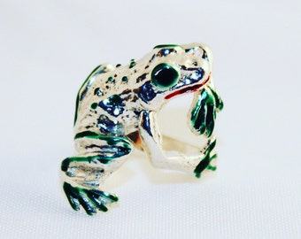 ring frog silver 925