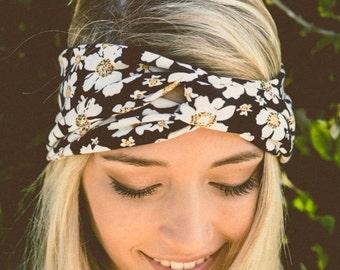 floral headband, flower headband, turban headband, womens headband, adult headband, Christmas gifts, Gift For Her, turban headband