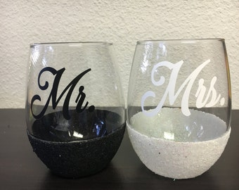 Mr.  Mrs. Wine Glasses