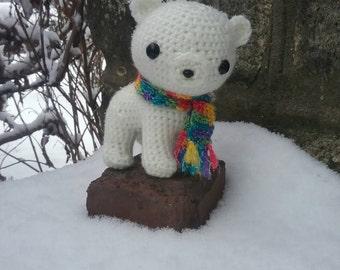 polar bear stuffed animal, polar bear plushie, crochet polar bear, polar bear stuffie, amigurumi polar bear, toys
