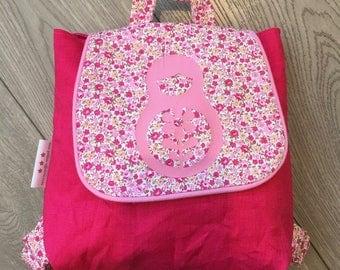 Nursery Kindergarten pink backpack