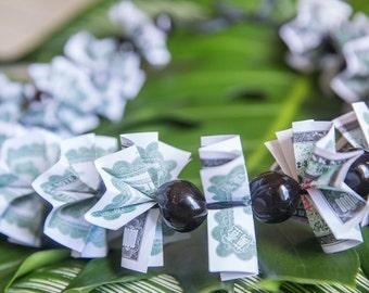 KUKUI NUT & MONEY Lei - Pick Your Choice Of Bills