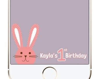 Custom Birthday/Baby Shower Snapchat GeoFilter | Bunny