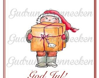 Heavy duty - printable Christmas card