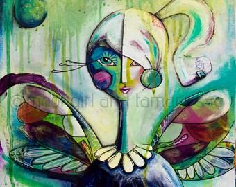 "8""x8"" Fine Art Print of Winged"