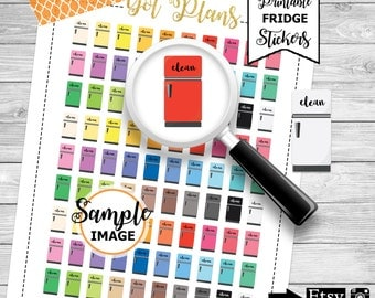 Clean Fridge Planner Stickers, Printable Stickers, Fridge Stickers, Housework Stickers, Chores Stickers, Refrigerator Stickers
