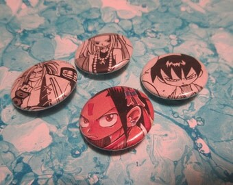 Shaman King Upcycled Pin Set 1, Shaman King Shonen Jump Pins