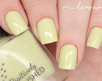 Citrine by Positively Pawlished - Lime green 10ml creme nail polish