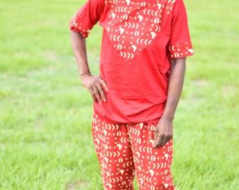 African/Ankara/Wax pant and T shirt set