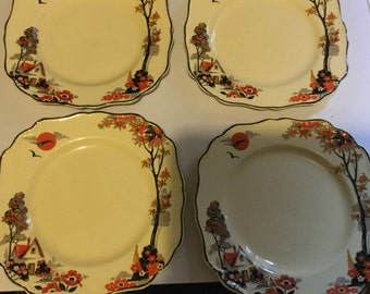 J&G Meakin Sylvania Bread and Butter Plates...set of 4