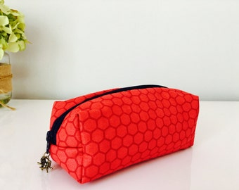 Box Pouch Cosmetic Bag / Travel Bag