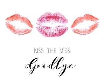 Lipstick Bachelorette Party Card