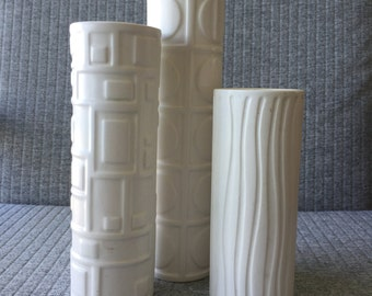 Mid Century Inspired Candle Votive Holders Vases Set of 3