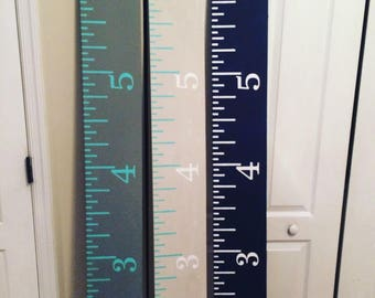 6' wood growth charts ruler kids baby new home family growth chart over sized custom measurement stick stained or painted personalized