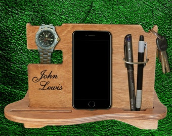 Docking Station, mens personalized, Gift for him, iphone holder,  iPhone Docking Station, charging dock, Gift for Men