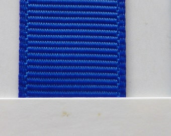 "3/8"" / 10mm Solid Grosgrain Ribbon ELECTRIC BLUE  #352 X 2 METERS"
