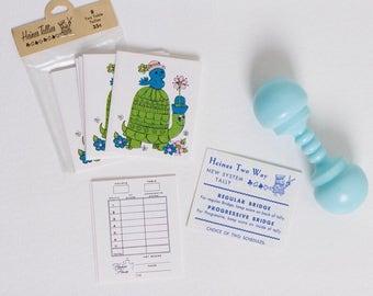 vintage 1960s bridge tallies | mod party game | deadstock unused