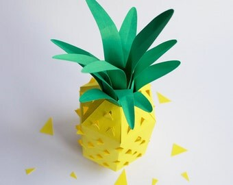 DIY Paper Pineapple Ornament/Decoration