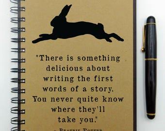 Writing Notebook, Quote Journal, Beatrix Potter, Writer Gift, Writer Journal, Hardcover Notebook, Spiral Notebook, Bullet Journal