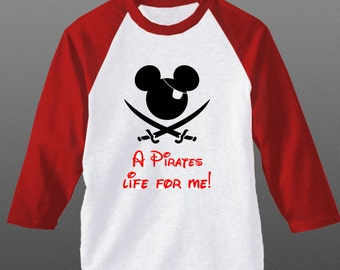 Custom Disney Cruise shirt - Disney Shirt- Add a name for FREE - Pirate Mickey Shirt