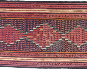 Persian Handknotted Vintage Harsin Kilim Rug 288x155cm