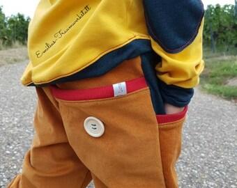 Corduroy pants mustard petrol so cool 92-152