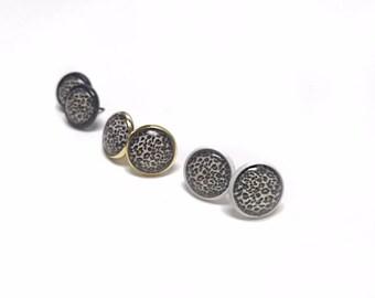 Leopard Stud Earrings | 12mm Leopard Studs | Stud Earrings