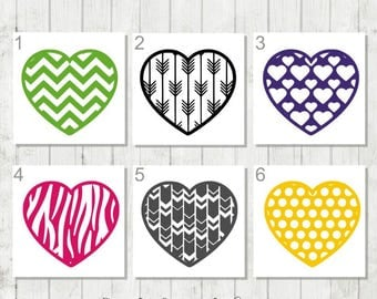 Heart Decal - Custom Heart Decal - Heart Tumbler Decal - Heart Car Decal - Heart Laptop Decal - Gift for Daughters - Gift for Mothers Day