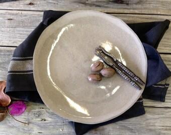Ceramic plate, Gray plate, Dinnerware service, Fine art, Ceramic dishes, Serving Plate, Cheese Plate, Ceramic Dinnerware, Serving Tray