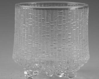 "IITTALA Crystal - ULTIMA THULE Pattern - Tumbler Glass / Glasses - 2 3/4"""