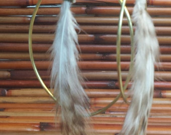 Feather and brass hoop