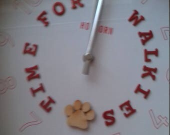 TIME FOR WALKIES...large wall clock