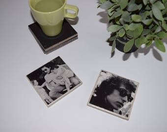 Music Themed Tile Coasters: Bob Dylan!