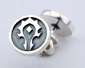 Pair of Horde Earrings Silver 925 world of warcraft wow