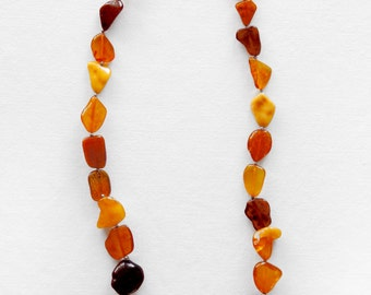 Real amber necklace, amber necklace, fine jewelry,