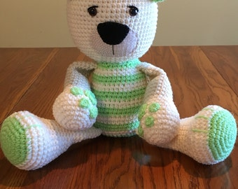 Rag doll stuffed crochet bear - stuffed teddy bear - crochet teddy bear - Easter
