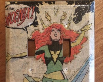 The phoenix rising Jean Grey/Phoenix switch plate cover.