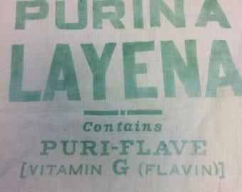 Vintage Purina Layena Feedsack Antique