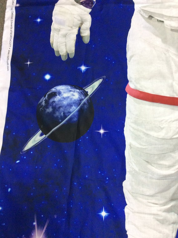 Astronaut panel space walk by northcott outer space fabric for Outer space fabric panel
