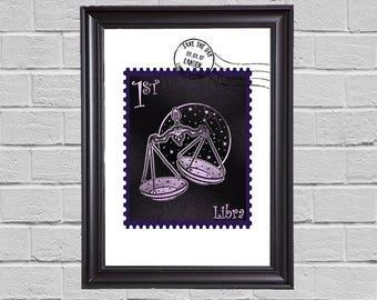 Libra Zodiac - stamps
