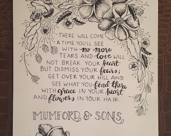 After the Storm by Mumford and Sons Drawing