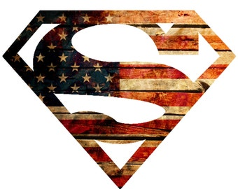 Superman inspired American Flag Decal