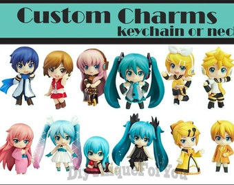 Chibi Vocaloid Custom Charms ( keychain/Necklace/Charm only)