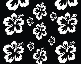 Hibiscus Flowers 1 (SHEET) Vinyl Decals