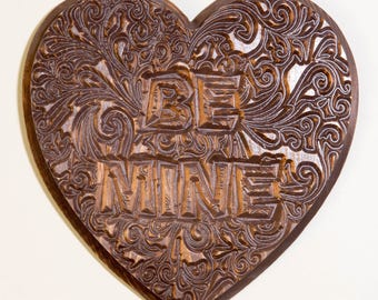 Wood Carved Candy Heart