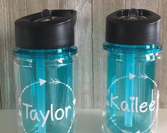Personalized Kid Water Bottle-kiddo-kiddo bottles-Name on bottle-Water bottle-daycare-preschool-school-pool-beach-camp-sports team-kiddos-