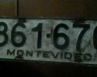 Registration for auto, Montevideo, Uruguay