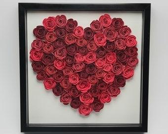 Flower Shadow Box - Heart