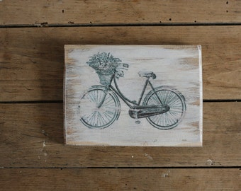 Rustic Sign - Farmhouse Sign - Shabby Sign - Country Sign - Vintage Signs - Bike - Bicycle  - Wooden Decor - Wood Sign  - Vintage Home Decor