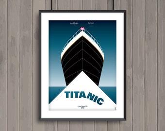 TITANIC, minimalist movie poster